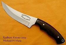 Upswept Ironwood Hunting knife