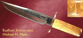 Mulberry Mammoth large Bowie Knife