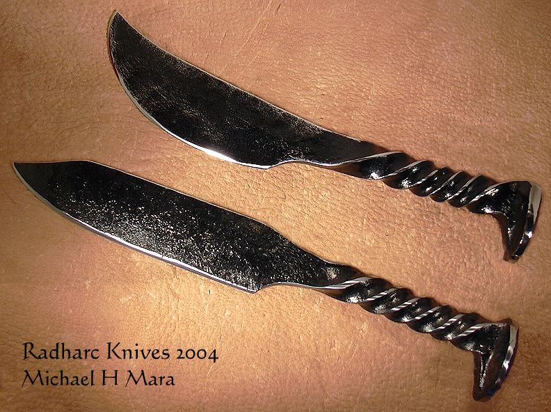 Hand Forged Railroad Spike Knives