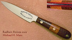 Mixed woods Utility Paring Knife
