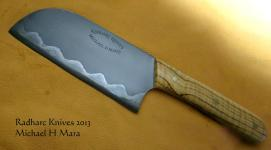 Curly Olive Santoku Chef's Knife