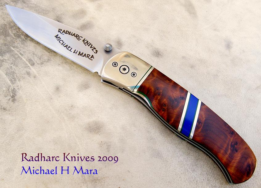 Lapis Thuya Folding Knife