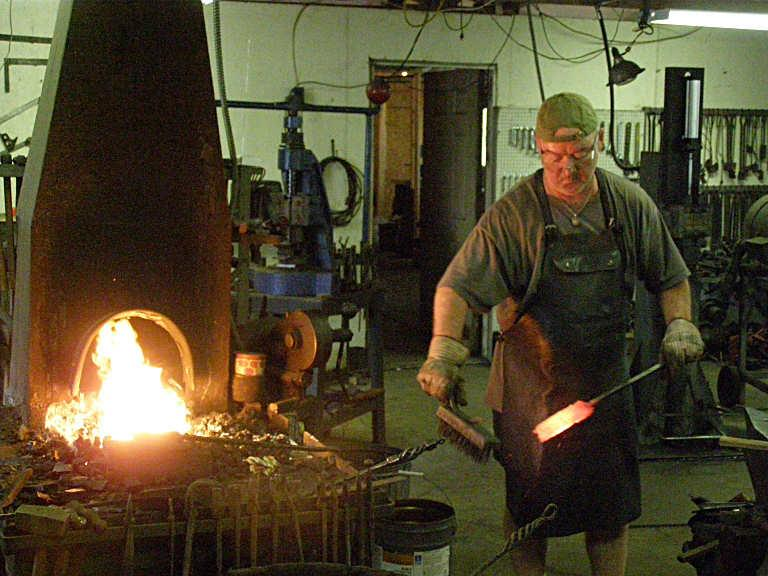Me Forge Welding some chainsaw chain