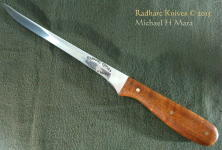 Elegant, tough and flexible, bird and trout filet knife