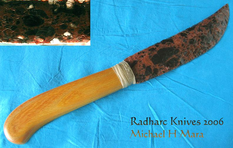 Flintknapped Stone Hunting Knife