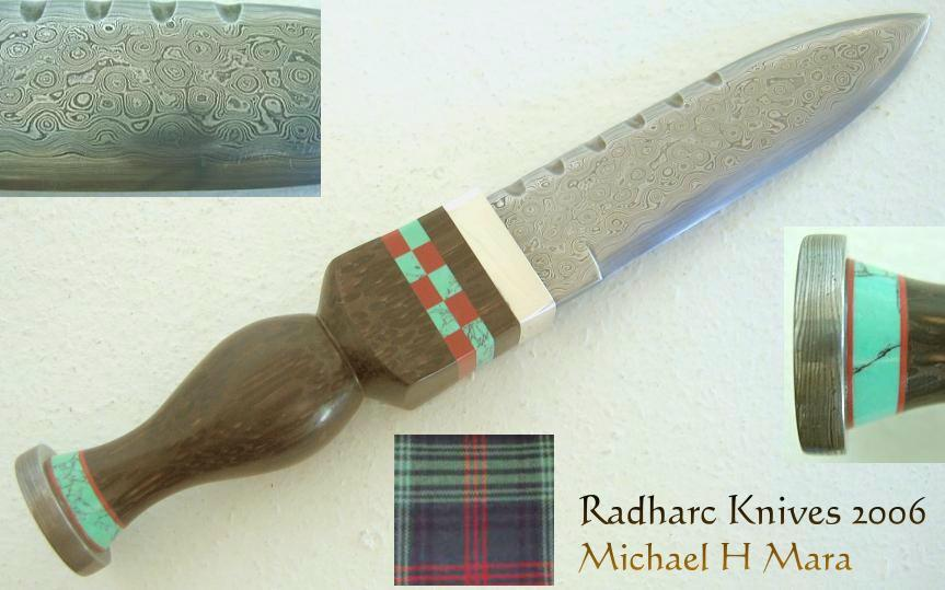Hand Forged Damascus Scottish Sgian Dubh Knife
