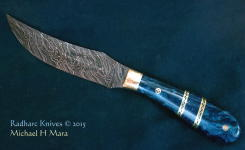 Fancy Damascus Hunter